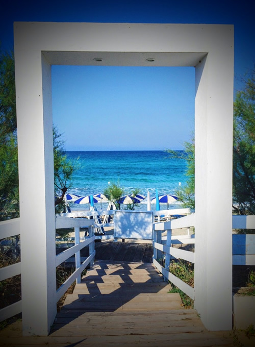 Ingresso Lido Blue Bay Beach Gallipoli - Stabilimento Balneare nel Salento